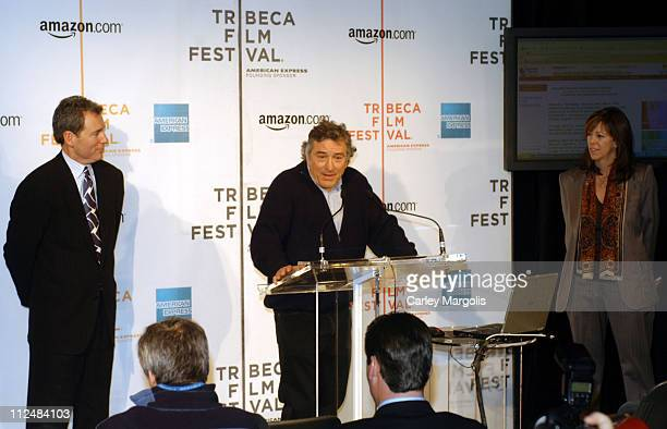 John Hayes chief marketing officer of American Express Robert De Niro and Jane Rosenthal cofounders of the Tribeca Film Festival