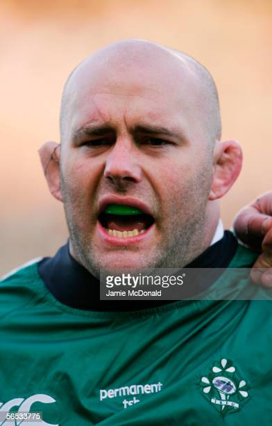 John Hayes of Ireland pictured prior to the Rugby Union International match between Ireland and Australia at Lansdowne Road on November 19, 2005 in...