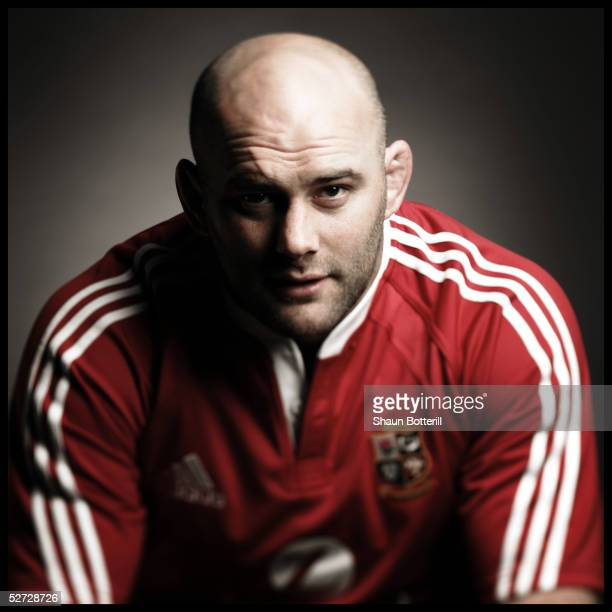 John Hayes pictured during the British and Irish Lions Squad Photocall for the 2005 Tour to New Zealand on April 18 2005 in Cardiff, Wales.