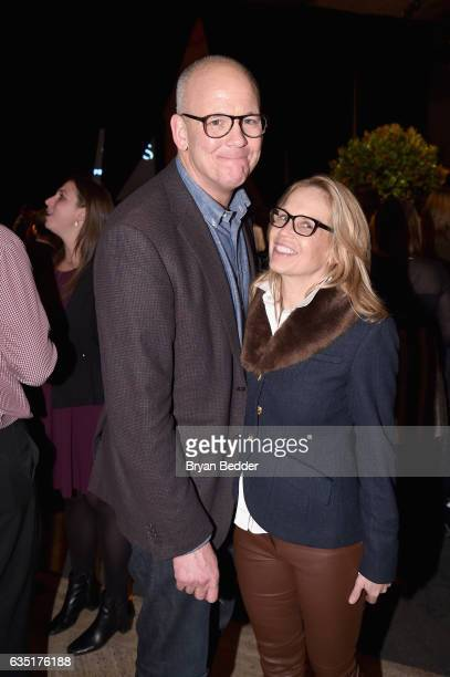 John Heilemann and Diana R Rhoten attend the Showtime and Elit Vodka hosted BILLIONS Season 2 premiere and party held at Cipriani's in New York City...