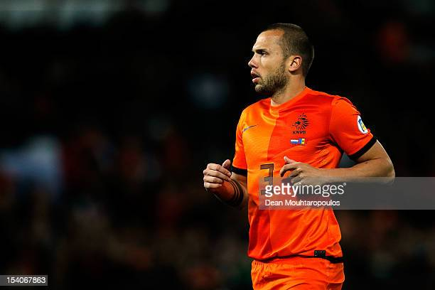 John Heitinga of Netherlands in action during the FIFA 2014 World Cup Qualifier between Netherlands and Andorra on October 12 2012 in Rotterdam...