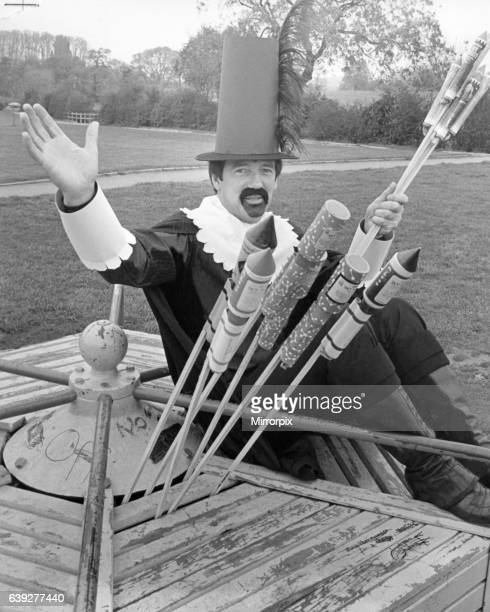 John Helm as Guy Fawkes seen here promoting the Guisborough annual firework display 30th October 1982