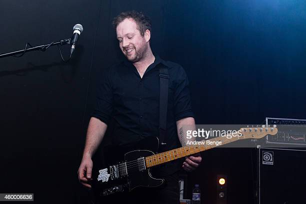 John Helps of Maybeshewill performs on stage at Belgrave Music Hall on December 5 2014 in Leeds United Kingdom