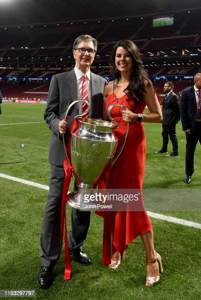 John Henry and Linda Pizzuti Henry owner's of Liverpool lifting the UEFA Champions League trophy the UEFA Champions League Final between Tottenham...