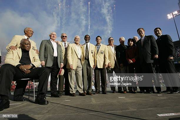 John Henry Johnson Joe Perry YA Tittle Bob St Clair Bill Walsh Jimmy Johnson Steve Young Dave Wilcox George Seifert Denise DeBartolo York unknown...