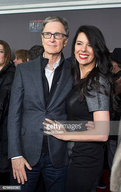 John Henry with his wife Linda Pizzuti Henry on the red carpet before the Special Boston screening of Patriots Day at Wang Theatre on December 14...