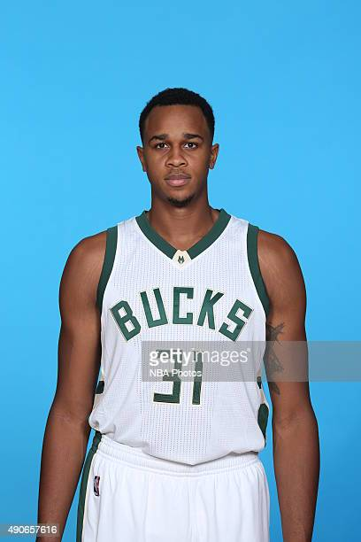 John Henson of the Milwaukee Bucks poses for a portrait during Media Day on September 28 2015 at the Orthopaedic Hospital of Wisconsin Training...