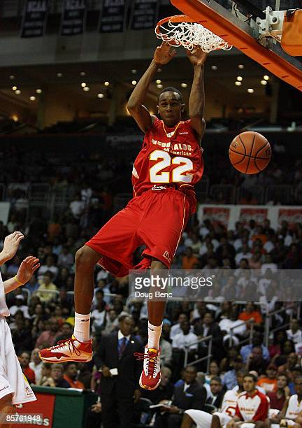 John Henson of the West Team dunks against the East Team in the 2009 McDonald's All American Men's High School Basketball Game at BankUnited Center...