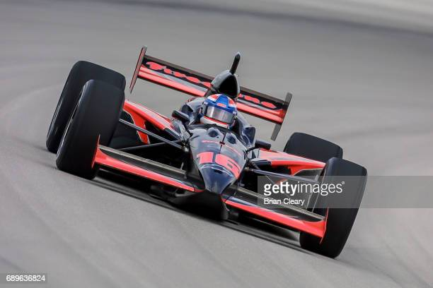 John Herb drives the G Force/Chevrolet on the track during the 20th Anniversary Grand Prix of Miami IRL IndyCar race at Homestead Miami Speedway on...