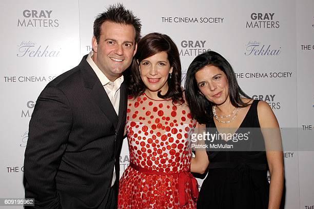 John Hermansen Sue Kramer and Jill Footlick attend THE CINEMA SOCIETY FREDERIC FEKKAI host a screening of GRAY MATTERS at IFC Theater on February 15...