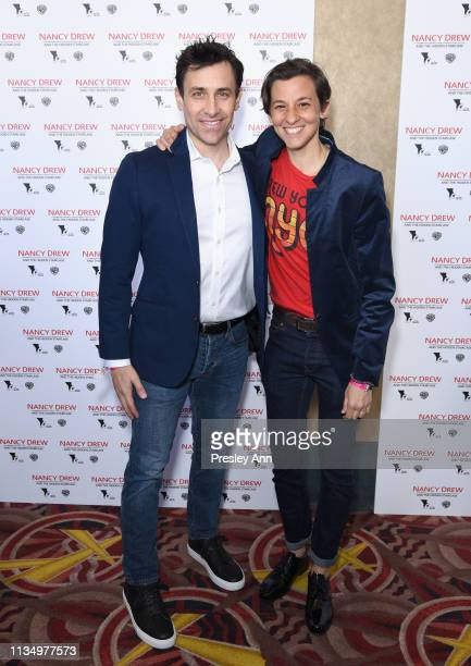 John Herrera and Nina Fiore attend the red carpet premiere of 'Nancy Drew and the Hidden Staircase' at AMC Century City 15 on March 10 2019 in...