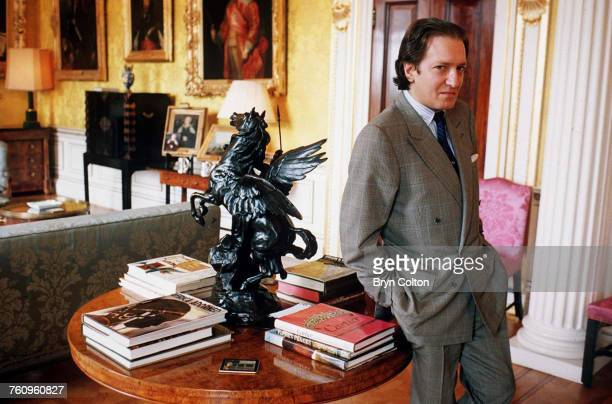 John Hervey 7th Marquess of Bristol in the drawing room of the east wing at Ickworth House the family seat near Bury StEdmunds Suffolk days before an...