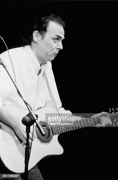 John Hiatt, guitar and vocals, performs on October 18th 1993 at the Paradiso in Amsterdam, Netherlands.