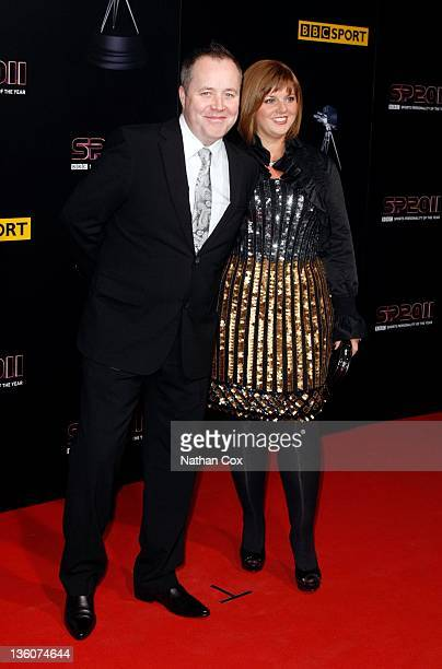 John Higgins and his wife Denise Higgins attend the awards ceremony for BBC Sports Personality of the Year 2011 at Media City UK on December 22 2011...