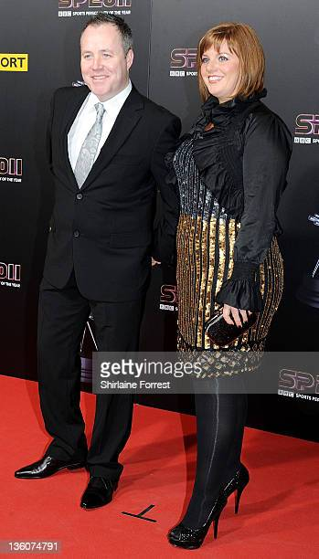 John Higgins and wife Denise Higgins attend awards ceremony BBC Sports Personality of the Year 2011 at Media City UK on December 22 2011 in Salford...