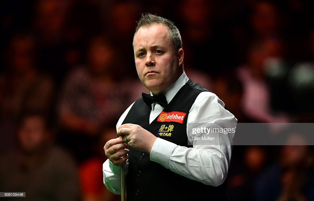 John Higgins of Scotland looks on during his quarter final match against Stuart Bingham of England during Day Six of The Dafabet Masters at Alexandra Palace on January 15, 2016 in London, England.