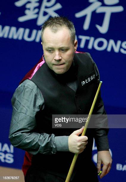 John Higgins of Scotland looks on during the final match against Judd Trump of England on day seven of the 2012 World Snooker Shanghai OTO Master at...