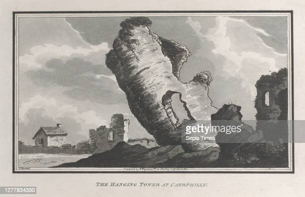 John Hill, The Hanging Tower at Caerphilly, from 'Remarks on a Tour to North and South Wales, in the year 1797', 'Remarks on a Tour to North and...