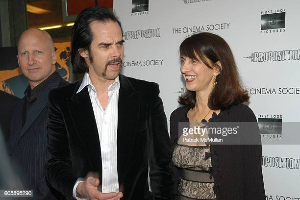 John Hillcoat, Nick Cave and Ruth Vitale attend THE CINEMA SOCIETY presents the NY Premiere of First Look Pictures' THE PROPOSITION at IFC Center on...