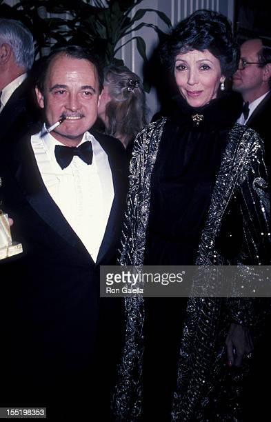 John Hillerman and actress Dana Wynter attend 39th Annual Golden Globe Awards on January 30 1982 at the Beverly Hilton Hotel in Beverly Hills...