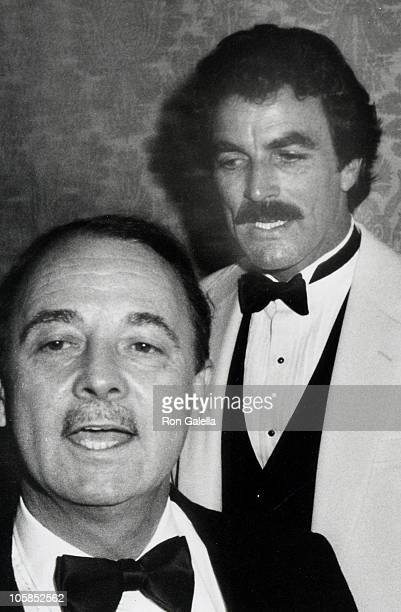 John Hillerman and Tom Selleck during 39th Annual Golden Globe Awards at Beverly Hilton Hotel in Beverly Hills California United States
