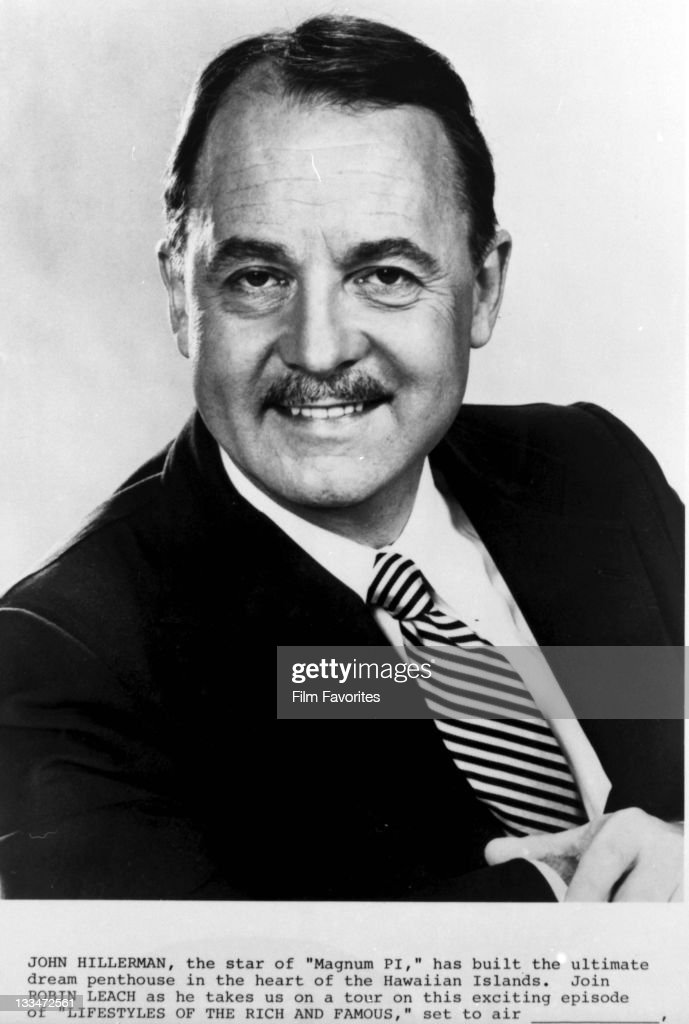 John Hillerman publicity portrait for the television series 'Lifestyles Of The Rich And Famous', 1980s.