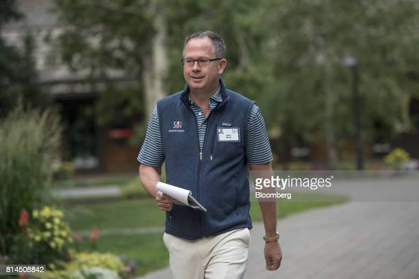 John Hock chief investment officer and portfolio manager of Altrinsic Global Advisors LLC arrives for the morning sessions during the Allen Co Media...