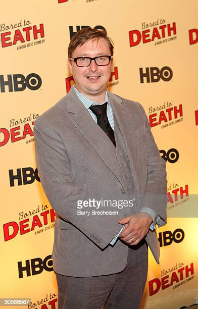 John Hodgman attends the premiere of HBO's Bored to Death at the Clearview Chelsea Cinemas on September 10 2009 in New York City