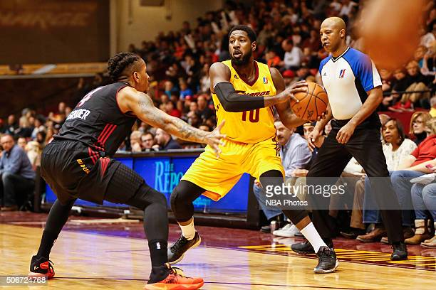 John Holland of the Canton Charge looks to pass the ball against the Sioux Falls Skyforce at Canton Memorial Civic Center on January 23 2016 in...