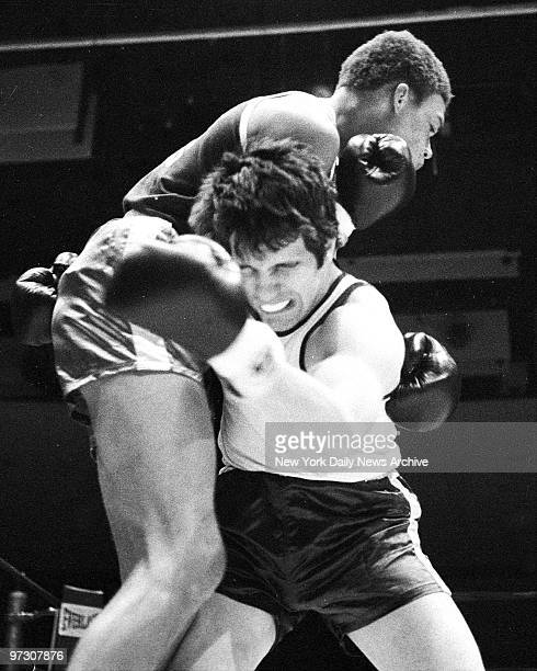 John Holloway and Michael Parrotta seem to be wrestling with a problem in second round of heavyweight SubNovice bout in SemiFinals of the Golden...