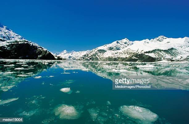 John Hopkins Glacier and melting ice in Glacier Bay National Park and Preserve, Alaska, USA