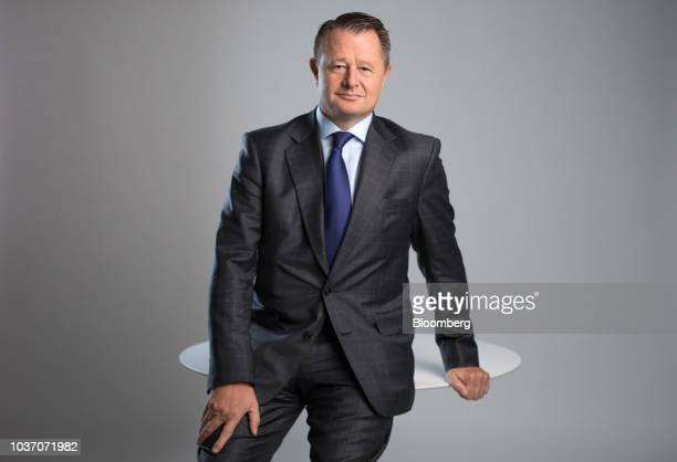 John Hourican chief executive officer of Bank of Cyprus Holdings Plc speaks during a Bloomberg Television interview in London UK on Friday Sept 21...