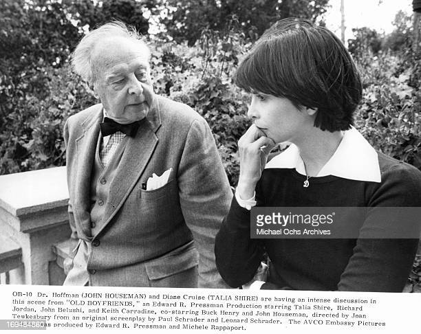 John Houseman talks with Talia Shire in a scene from the film 'Old Boyfriends' 1979