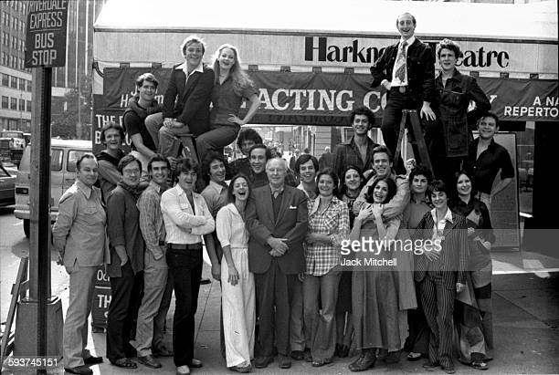 John Houseman's The Acting Company including Patti LuPone Norman Snow Kevin Kline Kevin Conroy and David Ogden Stiers photographed in October 1975