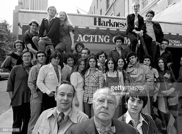 John Houseman's 'The Acting Company' including Patti LuPone Norman Snow Kevin Kline Kevin Conroy and David Ogden Stiers photographed in October 1975