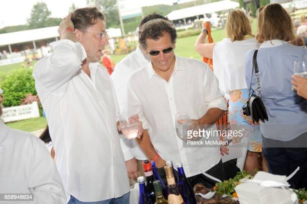 John Howard and Andy Arons attend DAVID YURMAN Celebrates the 34th Annual HAMPTON CLASSIC at The Grand Prix Tent on August 30 2009 in Bridgehampton NY