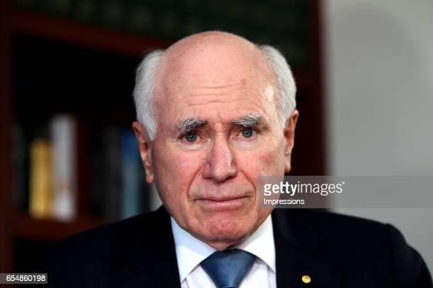 SYDNEY AUSTRALIA – SEPTEMBER 10 2012 John Howard in his Sydney office John Winston Howard OM AC was the 25th Prime Minister of Australia serving from...