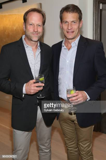John Huber and Russell Ashcraft attend Ambassador Grenell Goodbye Bash on May 6 2018 in New York City