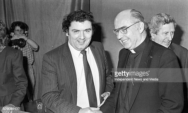 John Hume and Fr Edward Daly at the New Ireland Forum meeting held in Dublin Castle circa Feb 1984