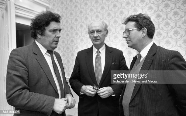 John Hume having a chat at the Launch of the book 'John Hume Statesman of the Troubles' at the Mansion House