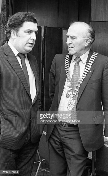 John Hume KCSG John Hume leader of the SDLP who was the speaker at the Rotary Club luncheon in Jury's Hotel Pictured with the President of the club...