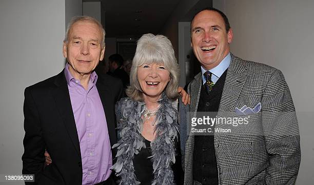 John Humphries Jilly Cooper and AA Gill attend the Sunday Times Magazine 50th Anniversary Party at Saatchi Gallery on February 2 2012 in London...