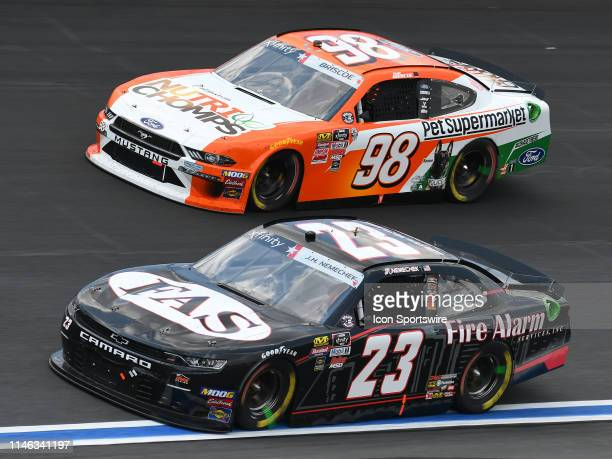 John Hunter Nemecheck GMS Racing Chevrolet Camaro Fire Alarm Services INC and Chase Briscoe StewartHaas Racing Ford Mustang Ford Nutri Chomps/Pet...