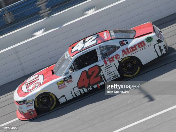 John Hunter Nemechek Chip Ganassi Racing Chevrolet Camaro Fire Alarm Services Inc races through the tripoval during the NASCAR Xfinity Series Sparks...