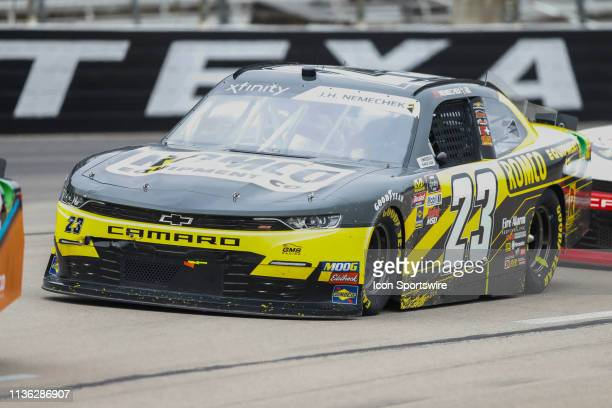 John Hunter Nemechek GMS Racing Chevrolet during the My Bariatric Solutions 300 NASCAR Xfinity Series on March 30 2019 at Texas Motor Speedway in...