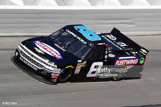 John Hunter Nemechek NEMCO Motorsports Fleetwing Corporation Chevrolet Silverado during practice for the NextEra Energy Resources 250 NASCAR Camping...