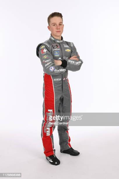 John Hunter Nemechek poses for a photo at Daytona International Speedway on February 14 2019 in Daytona Beach Florida