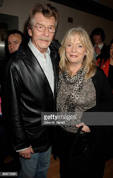 John Hurt and Alison Steadman arrive at the UK premiere of 'HappyGoLucky' at Odeon in Camden on April 14 2008 in London England