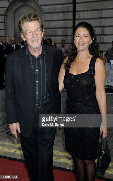John Hurt and Anwen ReesMyers arrive at the UK premiere of The Queen at Curzon Mayfair on September 13 2006 in London England