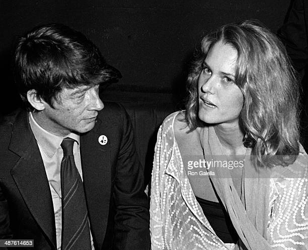 John Hurt and Arnella Flynn attend the opening of Elephant Man on October 2 1980 at Magique in New York City
